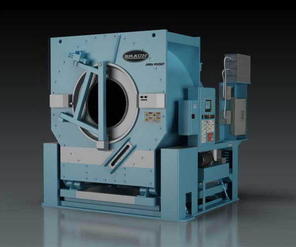 Open Pocket Washer Extractor ~ Braun industrial washers sales service support